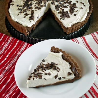 Chocolate Kahlua Tart with Mascarpone Cream Topping