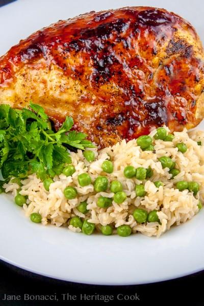 Ginger-Plum Glazed Chicken #GourmetGarden; 2014 Jane Bonacci, The Heritage Cook