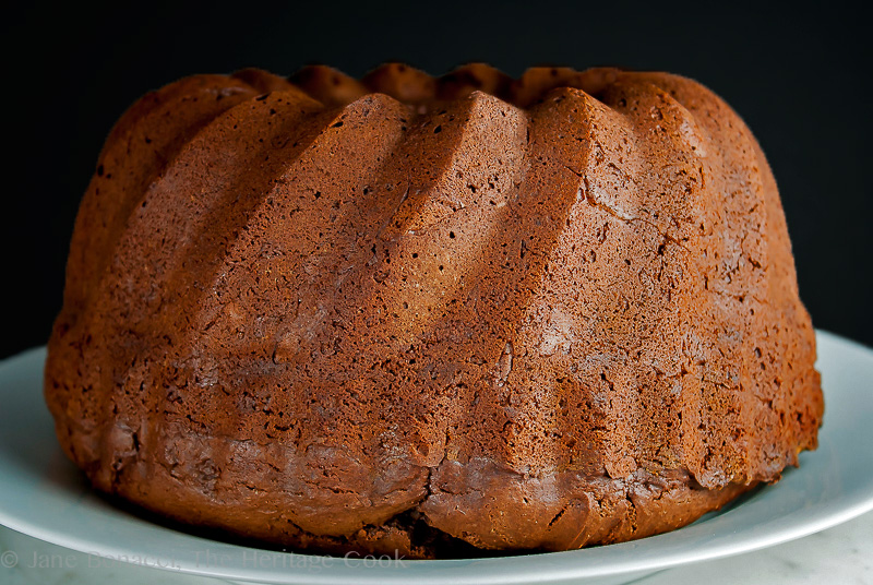 Red Wine Chocolate Cake & Mascarpone Whipped Cream; 2014 Jane Bonacci, The Heritage Cook.