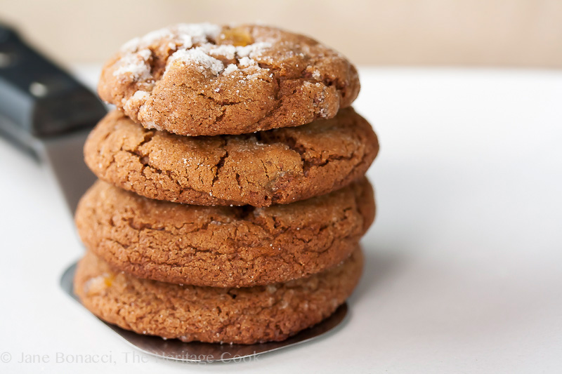 Chocolate Chip Gingersnaps; 2014 Jane Bonacci, The Heritage Cook