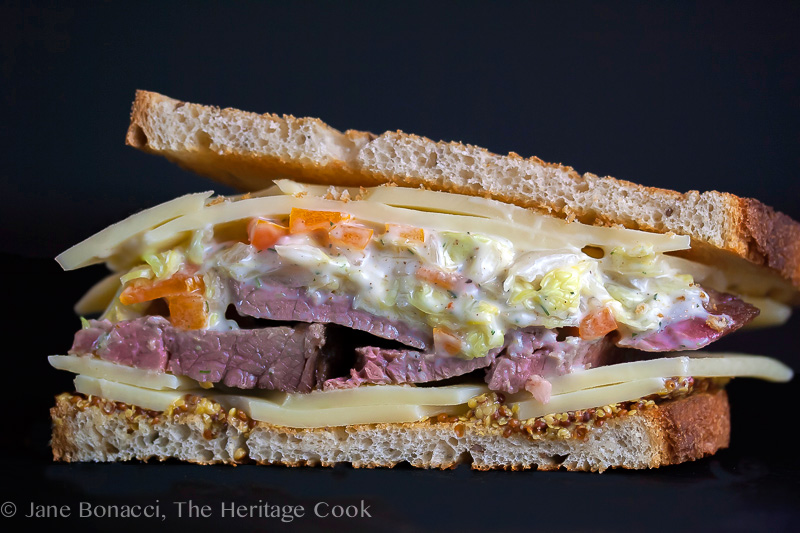 Corned Beef Sandwich & Dill-Ranch Coleslaw; 2014 Jane Bonacci, The Heritage Cook