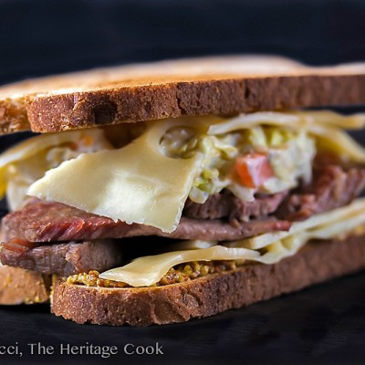 Post St. Patrick's Day Corned Beef Sandwiches with Dill-Ranch Coleslaw