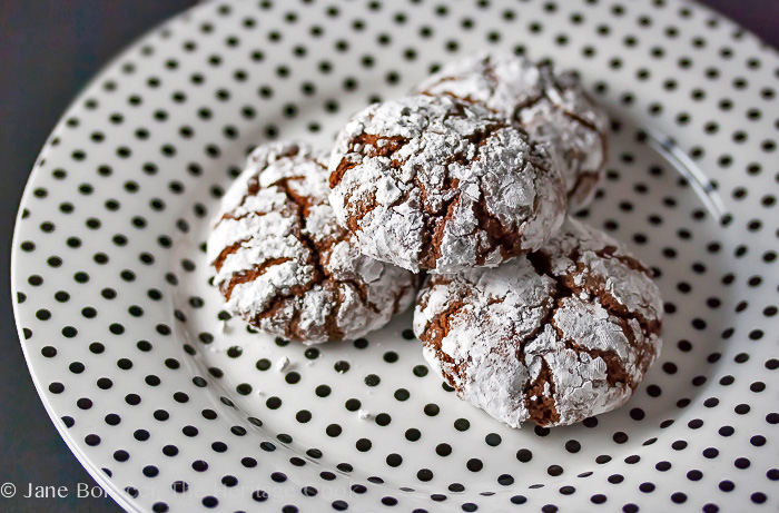 Gluten-Free Chocolate Crinkle Cookies; 2014 Jane Bonacci, The Heritage Cook
