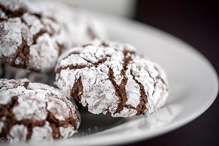 Gluten-Free Chocolate Crinkle Cookies; 2014 Jane Bonacci, The Heritage Cook