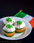 St Patrick's Day White Chocolate Cupcakes; 2014 Jane Bonacci, The Heritage Cook