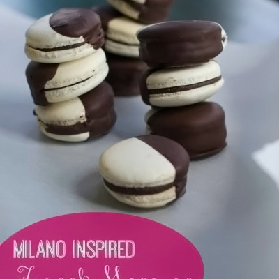 Milano Inspired Chocolate Dipped French Macarons – Guest Post