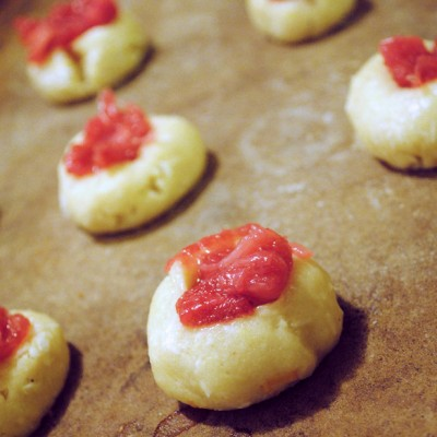 Gluten-Free Rhubarb Thumbprint Cookies