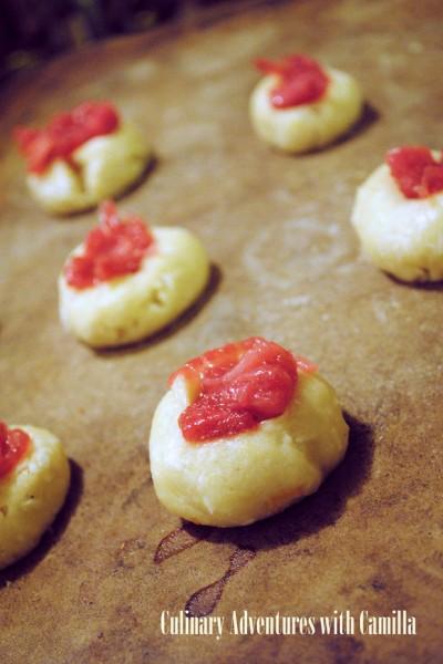 Rhubarb Thumbprints; 2014 Camilla Mann, Culinary Adventures with Camilla
