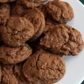 Choc-Chocolate Chip Cookies; 2014 Jane Bonacci, The Heritage Cook