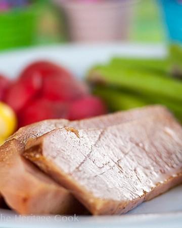 Bourbon-Chile Glazed Ham; 2014 Jane Bonacci, The Heritage Cook