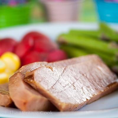 Baked Ham with Bourbon-Chile Glaze
