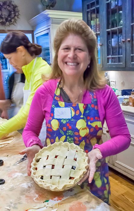Happiness and confidence after making her first pie!