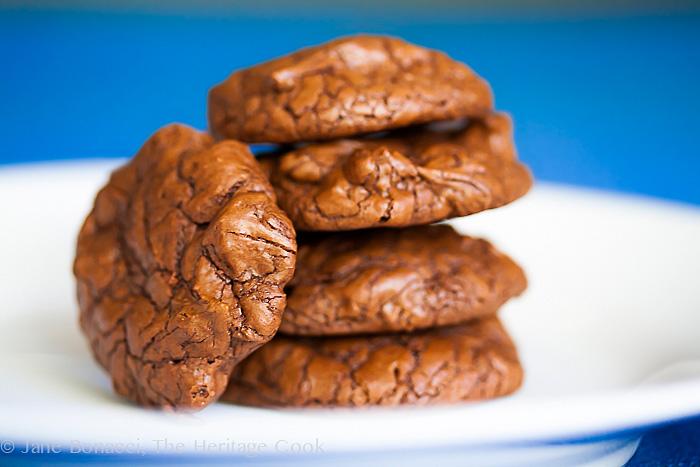 Chocolate Brownie Cookie Recipe; 2014 Jane Bonacci, The Heritage Cook