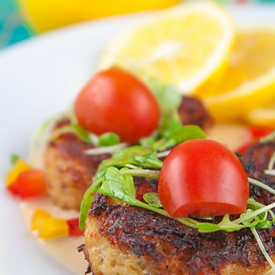 Thai Crab Cakes with Creamy Lemongrass Sauce (Gluten-Free)
