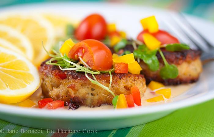 Thai Lemongrass Crab Cakes; 2014 Jane Bonacci, The Heritage Cook