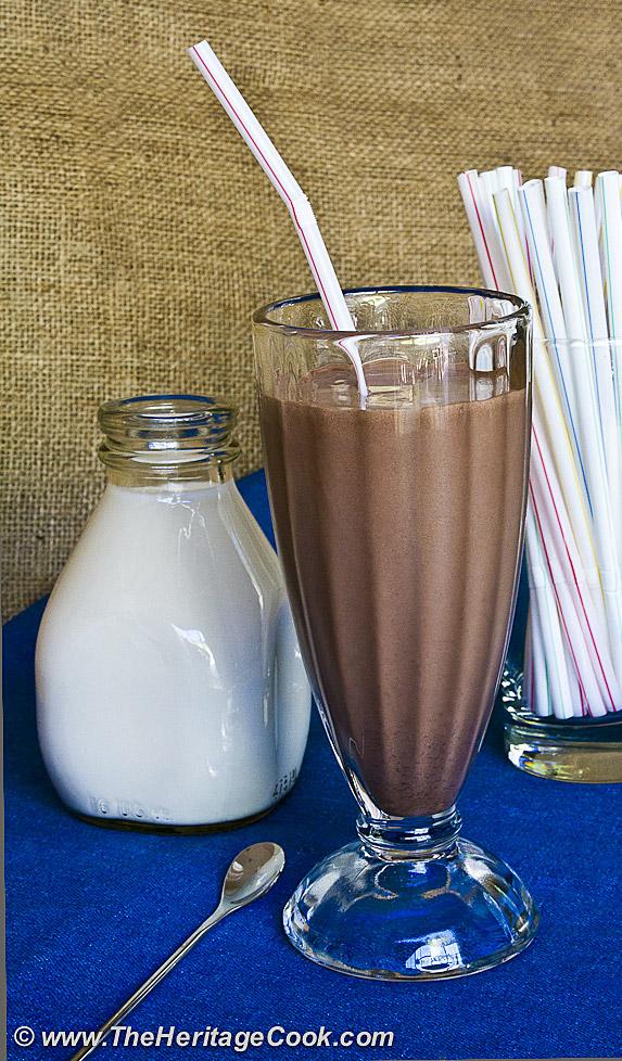 Ultimate Chocolate Milkshakes; 2012 Jane Bonacci, The Heritage Cook