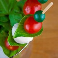 Caprese Skewers; 2014 Jane Bonacci, The Heritage Cook