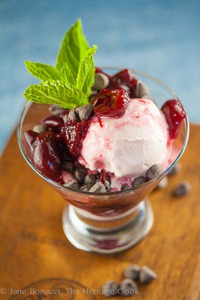 Port-Cherry Parfaits; 2014 Jane Bonacci, The Heritage Cook