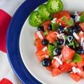 Firecracker Watermelon Salad; 2014 Jane Bonacci, The Heritage Cook