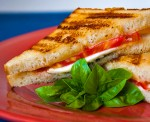 Caprese Grilled Cheese Sandwiches; 2014 Jane Bonacci, The Heritage Cook