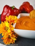 Roasted Red Pepper Hummus; 2014 Jane Bonacci, The Heritage Cook