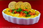 Hot Cheesy Artichoke Chile Dip; 2014 Jane Bonacci, The Heritage Cook