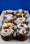 Baked Chocolate Mini Donuts; 2014 Jane Bonacci, The Heritage Cook
