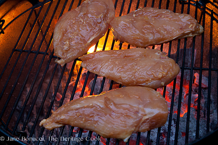 Grilled Sriracha Chicken Gluten-Free Recipe; 2014 Jane Bonacci, The Heritage Cook
