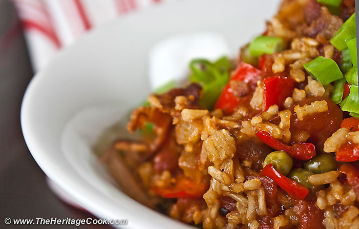 Tex-Mex Rice with Bacon Recipe #ProgressiveEats (Gluten-Free)