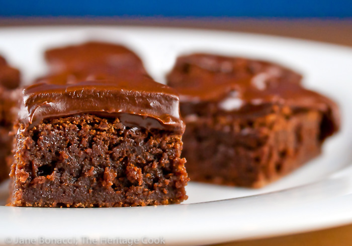 Merlot Brownies with Chocolate-Port Frosting; 2014 Jane Bonacci, The Heritage Cook