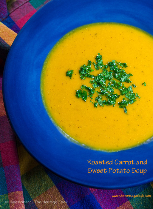 Roasted Carrot And Sweet Potato Soup