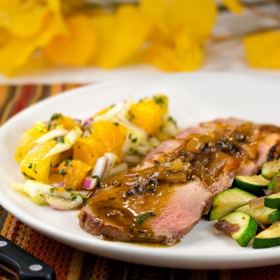 Pan-Seared Duck Breasts with Orange, Fennel and Cilantro Salsa (Gluten-Free)