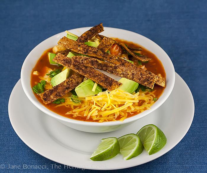 Beautiful Tortilla Soup; Mix and Match Holiday Recipes; 2014 Jane Bonacci, The Heritage Cook