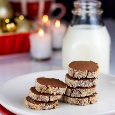Santa's Cookies – Sugar Crusted Chocolate Sables (Gluten-Free)