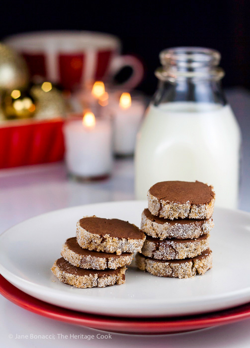 Santa's Cookies! Sugar Crusted Chocolate Sable Shortbreads