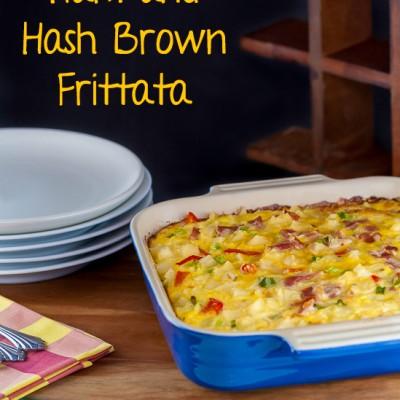 Ham and Hash Brown Frittata (Gluten Free)