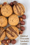 Plate full of Hazelnut Chocolate Cookies with hazelnuts and a Giveaway from The Heritage Cook