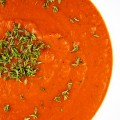Luscious Italian Cream of Tomato Soup, the perfect way to warm up on chilly days