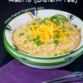 Combination of creamy risotto with a rich cheesy sauce makes for one terrific dinner!