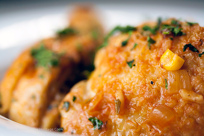 Mexican Arroz con Pollo Casserole; 2015 Jane Bonacci, The Heritage Cook