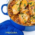 Mexican seasoned chicken and rice casserole called Arroz con Pollo; 2015 Jane Bonacci, The Heritage Cook