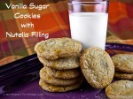 Delightful sugar cookies with a hidden surprise inside - Nutella Chips!