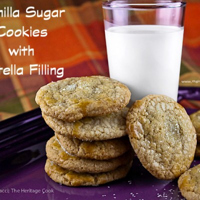 Vanilla Sugar Cookies with a Nutella Surprise! (Gluten-Free)