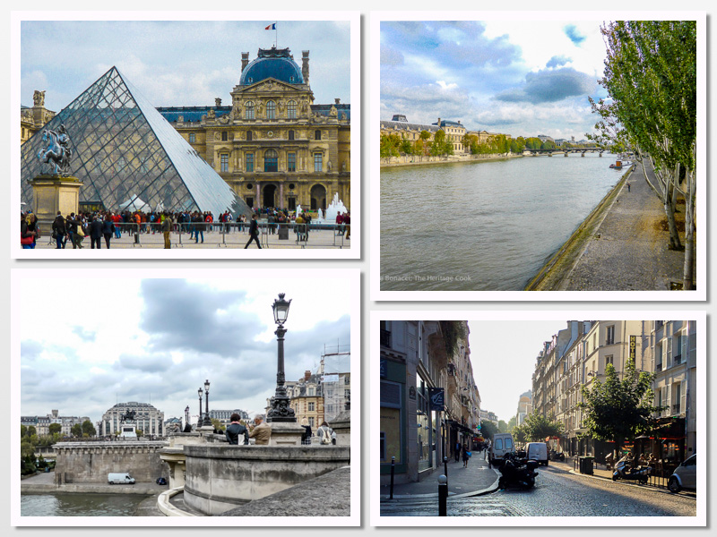 The Louvre; River Seine; Pont Neuf Bridge Paris; Cobbled Streets of Montmartre; 2015 The Heritage Cook
