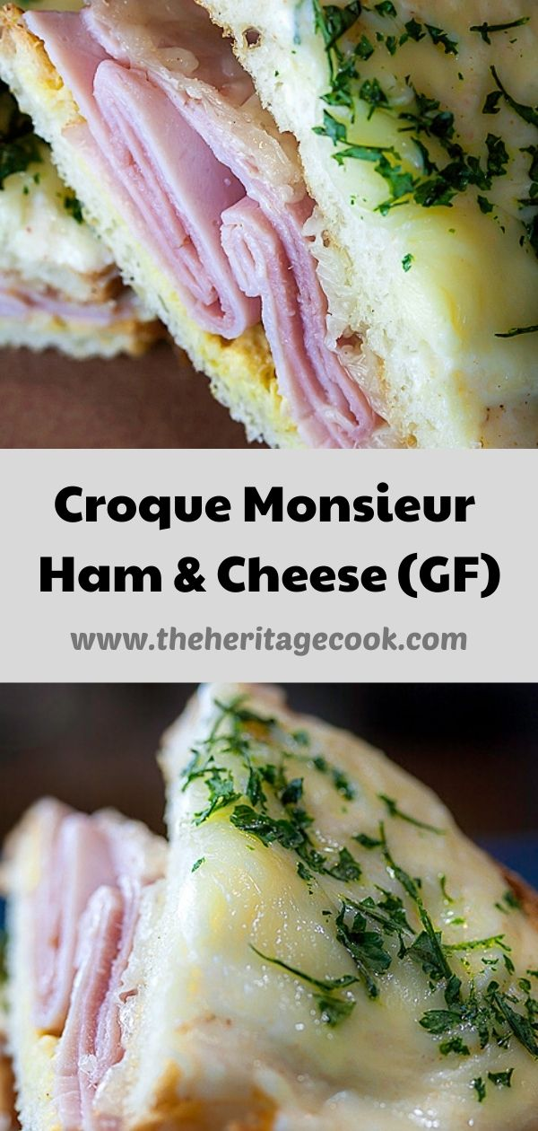 Creamy, Cheesy French Ham & Cheese Sandwiches, Croque Monsieur; 2020 Jane Bonacci, The Heritage Cook
