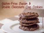 Rich deep chocolate flavored cookies with a hint of bacon balancing the flavors in these delightful cookies.
