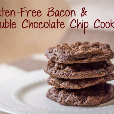 Gluten-Free Bacon Double Chocolate Chip Cookies