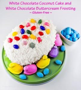 White Chocolate Coconut Easter Egg Cake; 2015 Jane Bonacci, The Heritage Cook