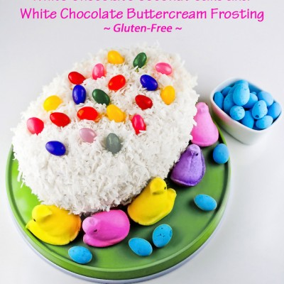 White Chocolate Coconut Cake for Easter (Gluten-Free)
