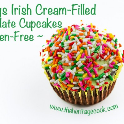 Irish Cream-Filled Chocolate Cupcakes (Gluten-Free)